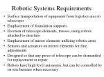 robotic systems requirements