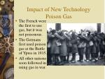 impact of new technology poison gas