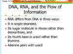 dna rna and the flow of information