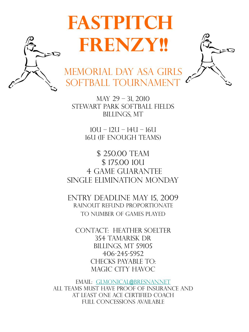 fastpitch frenzy l.