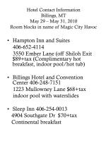 hotel contact information billings mt may 29 may 31 2010 room blocks in name of magic city havoc