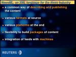 newsml an xml language for the news industry