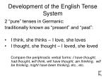 development of the english tense system6