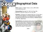 biographical data