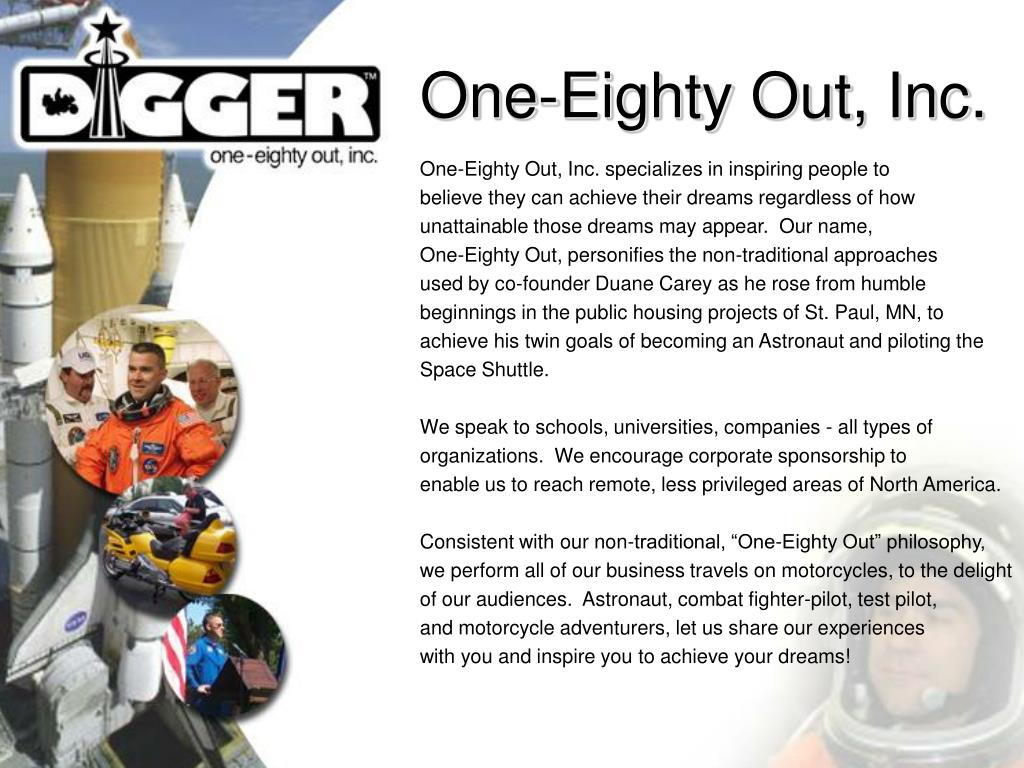 One-Eighty Out, Inc.