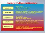 safety culture indicators