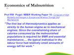 economics of malnutrition
