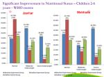 significant improvement in nutritional status children 2 6 years who norms