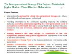 the inter generational strategy pilot project mokhada jawhar blocks thane district maharashtra