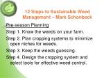12 steps to sustainable weed management mark schonbeck