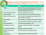 organic weed management practices crop rotations on organic farms mohler johnson 2009