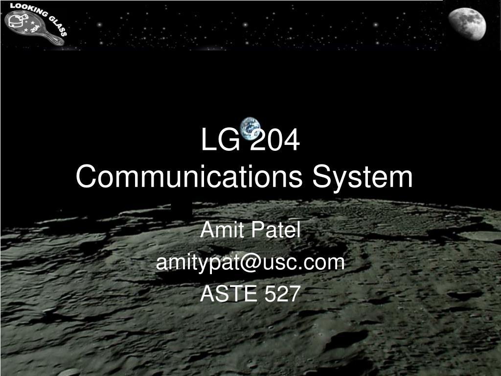 lg 204 communications system l.
