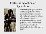 factors in adoption of agriculture36