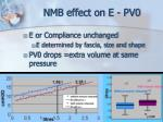 nmb effect on e pv0