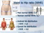 waist to hip ratio whr