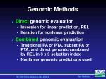 genomic methods