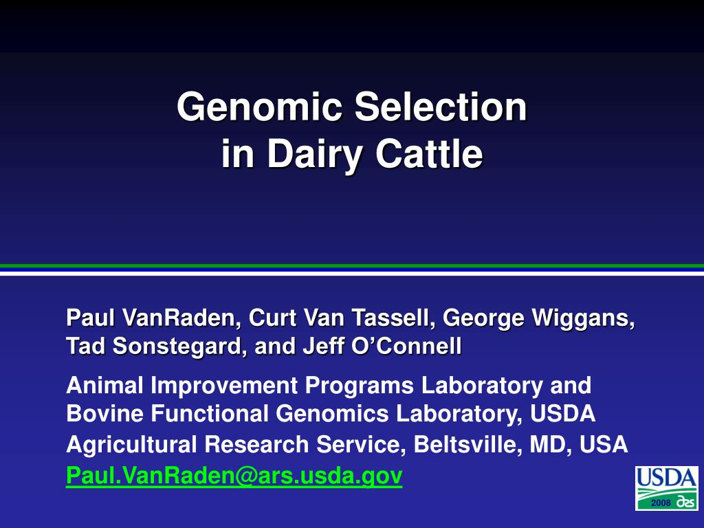 genomic selection in dairy cattle l.