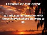 lessons of the geese19