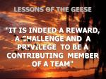 lessons of the geese21