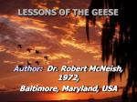 lessons of the geese22