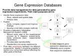 gene expression database s