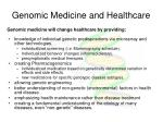 genomic medicine and healthcare