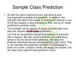sample class prediction36