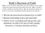 ruth s decision of faith