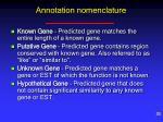 annotation nomenclature