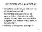 asymmetrische information