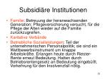 subsidi re institutionen