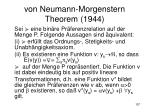 von neumann morgenstern theorem 1944