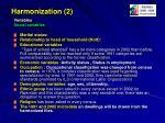 harmonization 2
