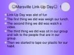 marsville link up day 1