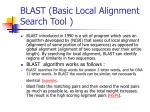 blast basic local alignment search tool