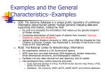 examples and the general characteristics examples