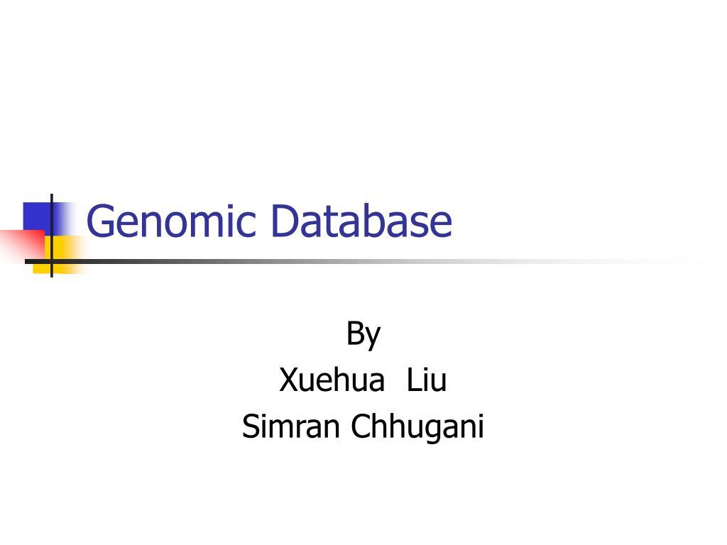 genomic database l.