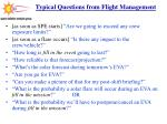 typical questions from flight management