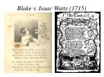 blake v isaac watts 1715