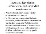 industrial revolution romanticism and individual consciousness2