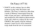 on fancy 477 8