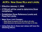 acr s new dose rls and limits