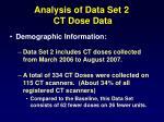 analysis of data set 2 ct dose data