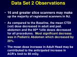 data set 2 observations