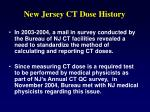 new jersey ct dose history