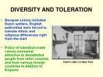 diversity and toleration