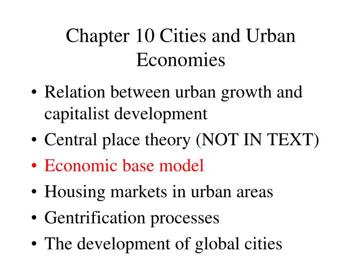 chapter 10 cities and urban economies n.