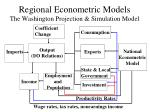 regional econometric models the washington projection simulation model