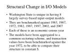 structural change in i o models