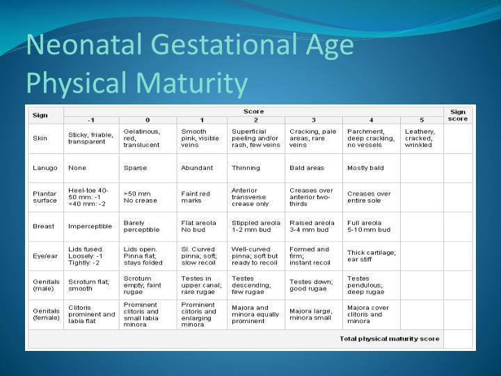 Neonatal Gestational Age